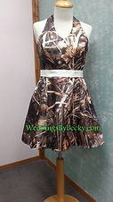 Short Camo Bridesmaid dress