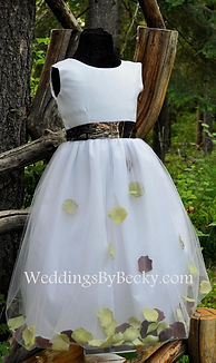 Camo Petals flowergirl dress