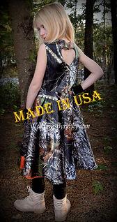 Mossy Oak Breakup camo flowergirl dress