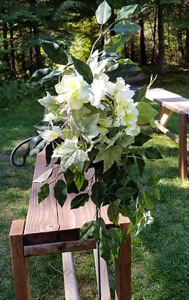 Wedding flower rental for hooks