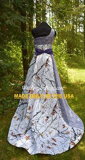 Truetimber camo one shoulder wedding dress