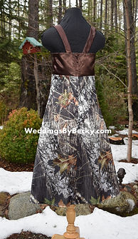 Mossy Oak Breakup Camo Jr Bridesmaid dress