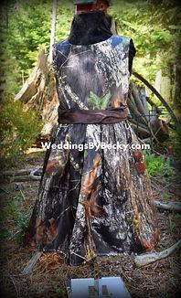Mossy Oak Breakup flowergirl dress