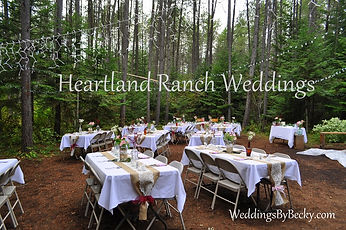 Heartland Ranch Wedding & reception in the woods