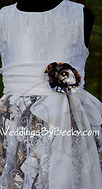 Camo and lace flowergirl dress