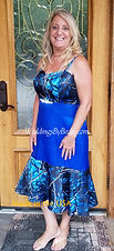 Blue Camo Bridesmaid or Wedding dress