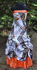 Mossy Oak Winter wedding dress