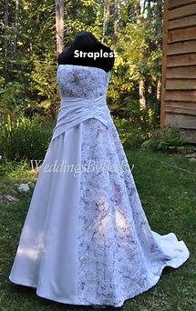 Truetimber Snow Camo and Lace wedding dress