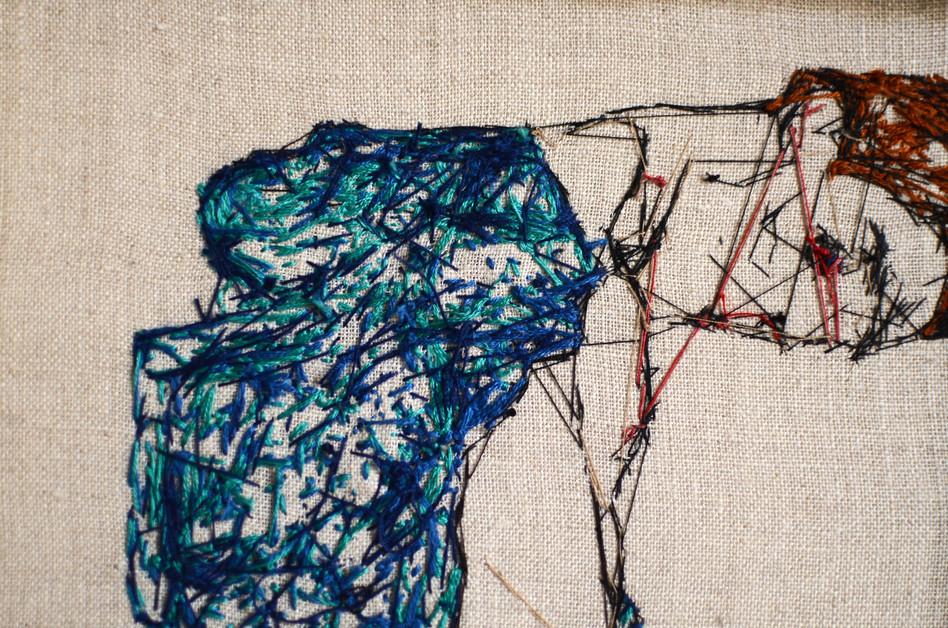 Egon Schiele - Embroidery  back side
