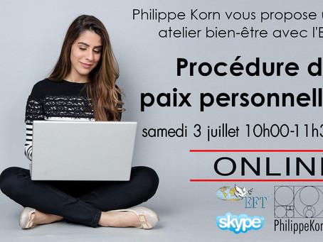 Procédure de paix personnelle via Skype, 3 juillet