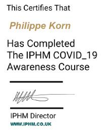 Certification COVID-19 de l'IPHM