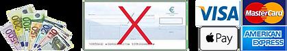 règlements par carte bancaire et espèces