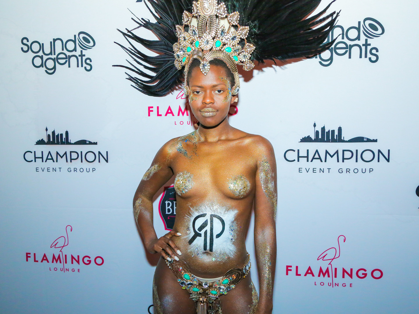 corporate entertainment - body painted model