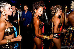 nightlife entertainment, podium dancers, prana entertainment, african dancers