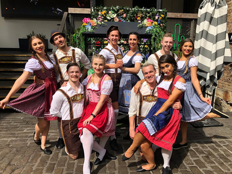 Oktoberfest Dancers for Munich Brauhas Street Parade.