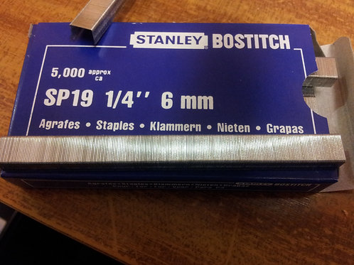 "SP19 1/4"" 6mm Staples"
