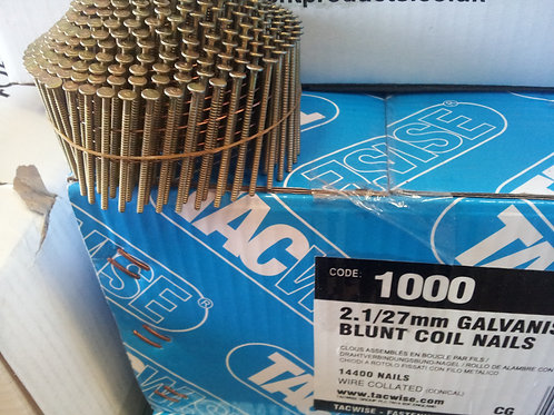 Tacwise 2.1 x 27mm Galvanised Ring Conical Coil Nails