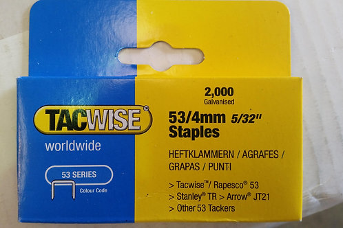 Tacwise 53 Series 4mm Staples