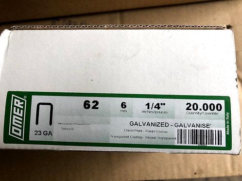 Omer 62 Series Staples 6mm & 10mm. Fit Omer 62.16 Stapler