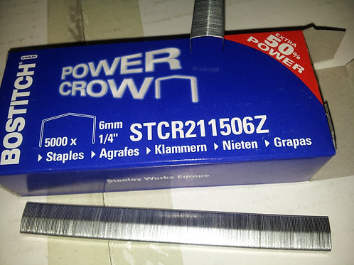 Bostitch STCR2115 Staples to fit B8 Staplers. 6mm & 10mm