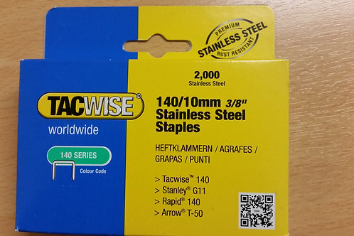 Tacwise 140/10 Stainless Steel Staples