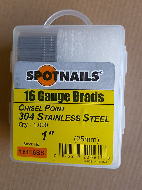 16 Gauge Stainless Steel Brads 25mm - 50mm