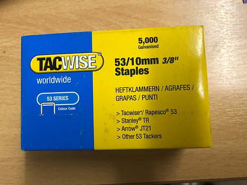 Tacwise 53 Series 10mm Staples