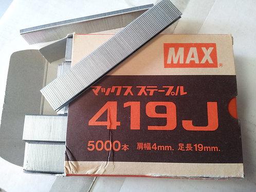 Max 419J Staples. 19mm length