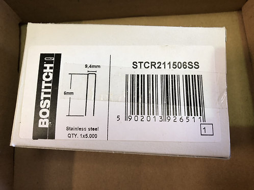 Bostitch STCR211506SS Stainless Steel B8 Staples