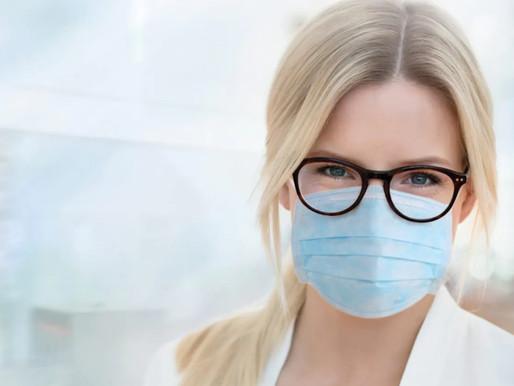 戴口罩時如何避免戴霧眼鏡 。視康佳。眼鏡防霧