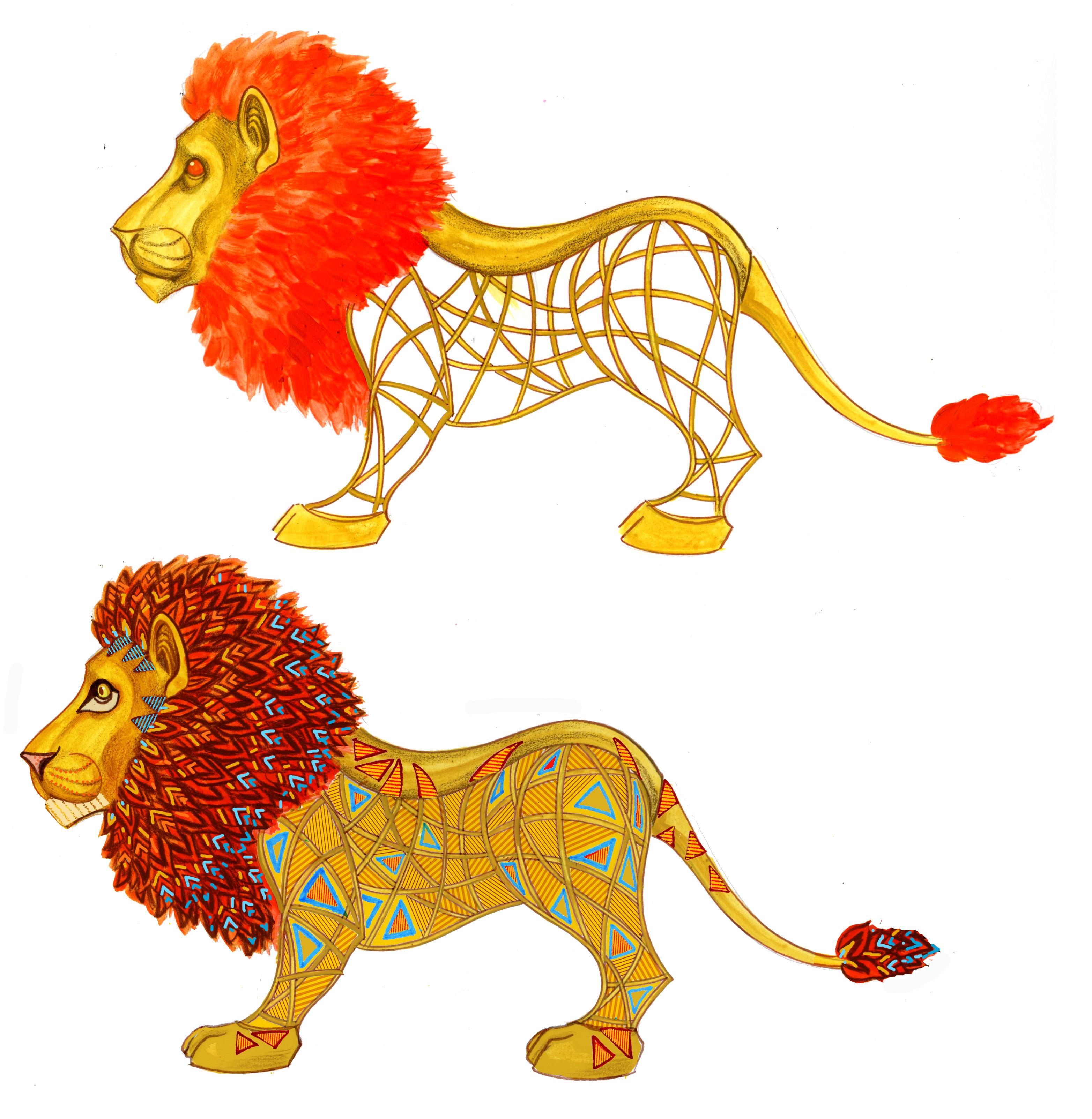 lion color two