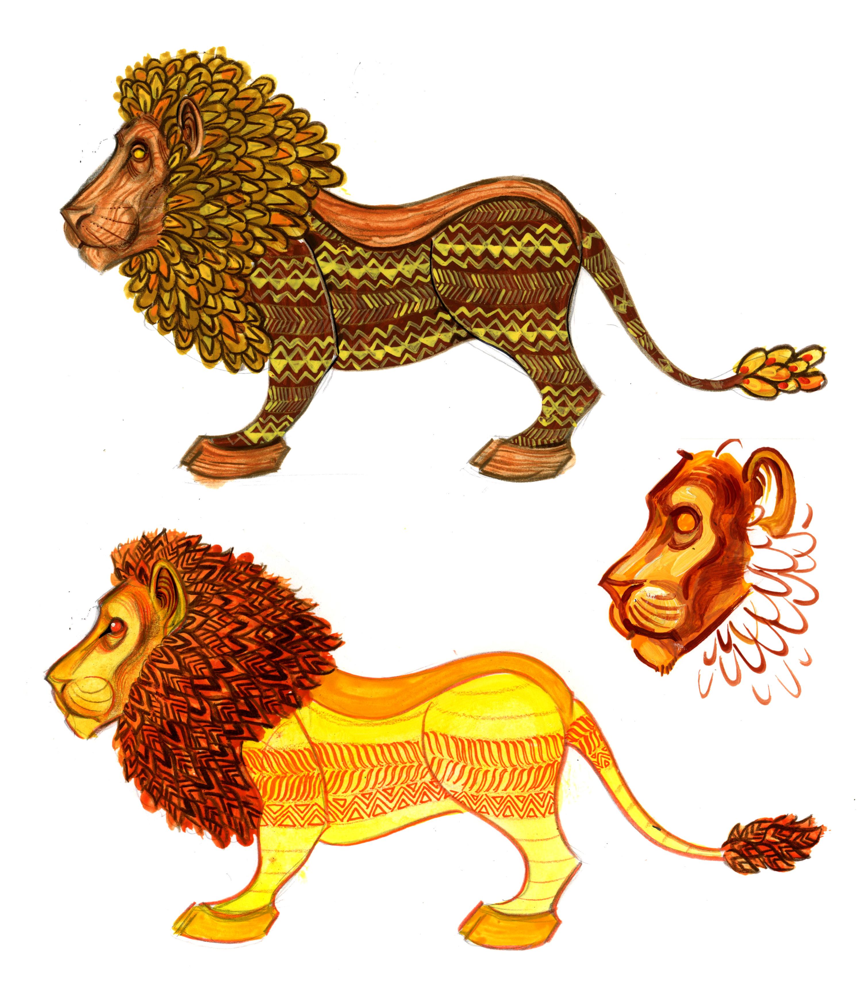 lion color one