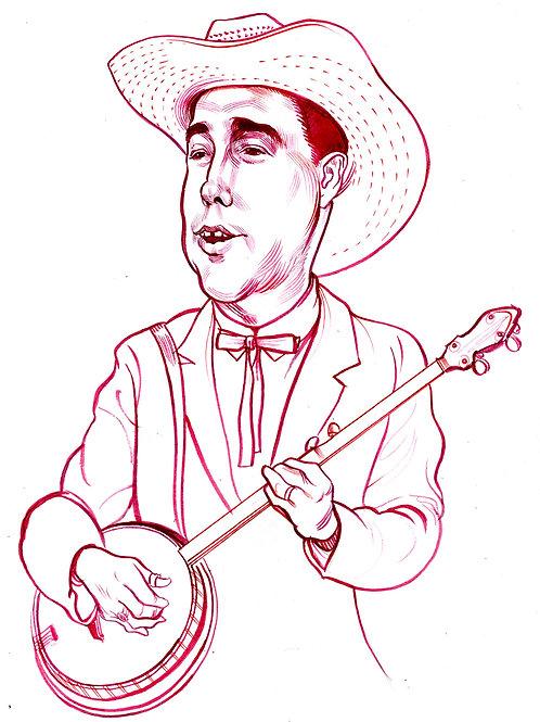 Earl Scruggs, Red Ink Drawing