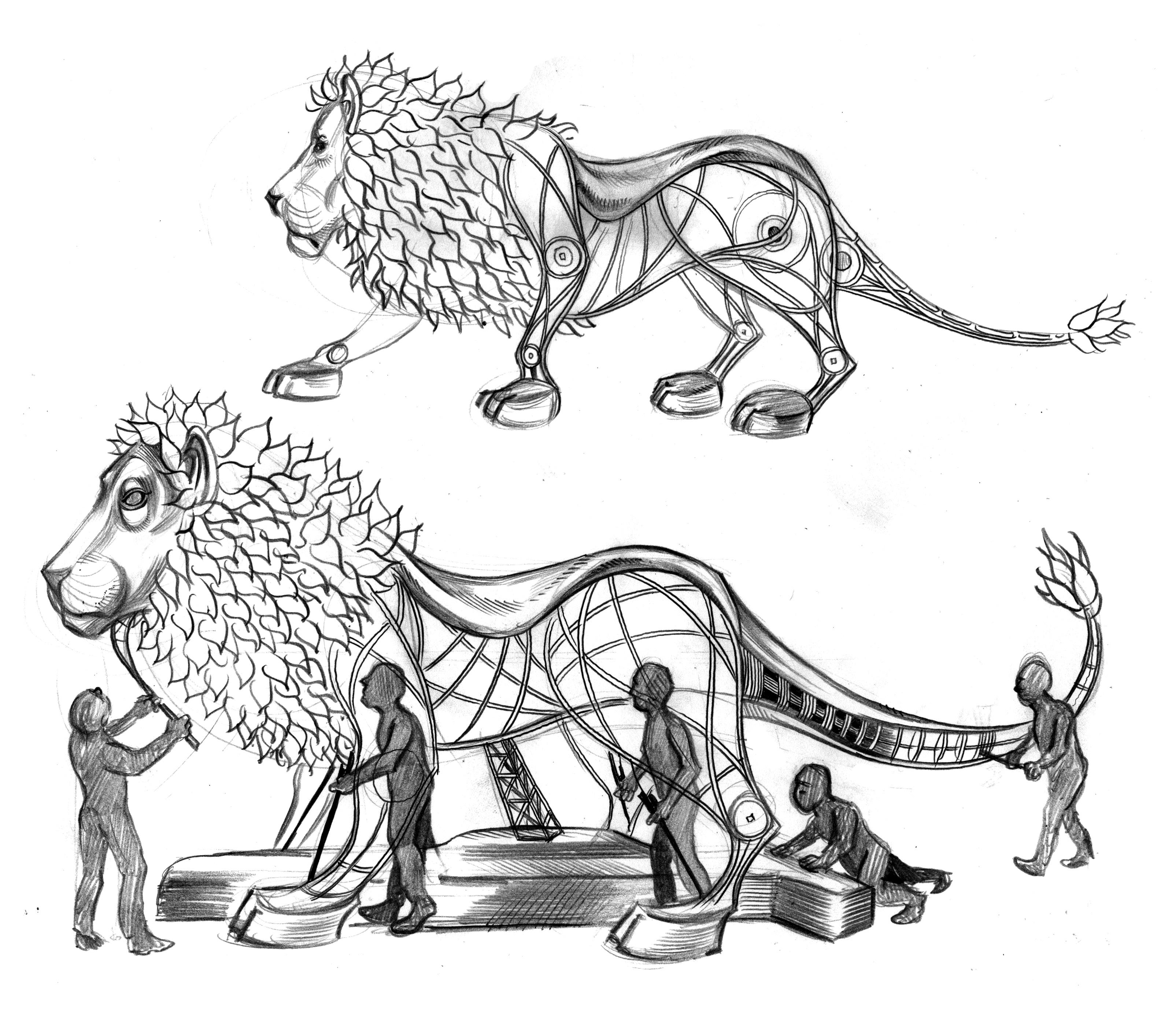 lion body graphite