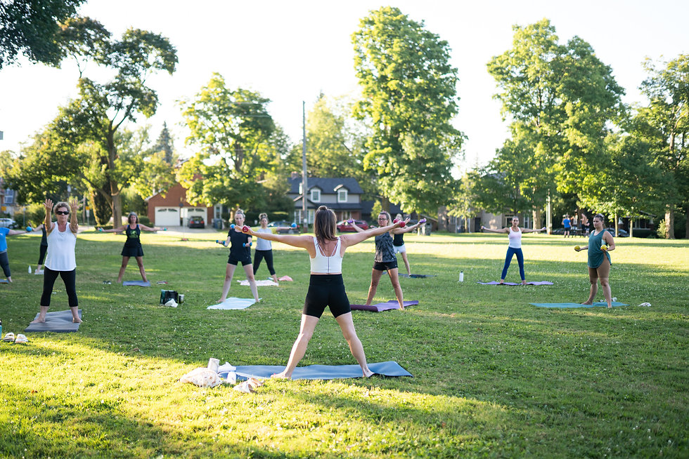 Outdoor group classes