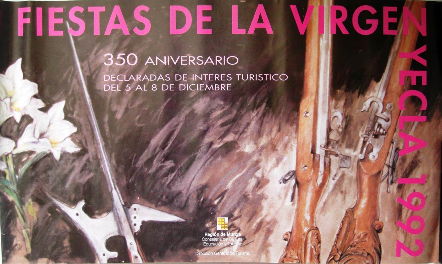 Cartel Fiestas de la Virgen año 1992