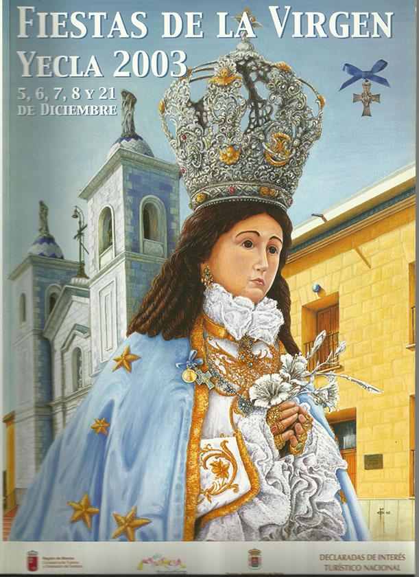 Cartel Fiestas de la Virgen año 2003