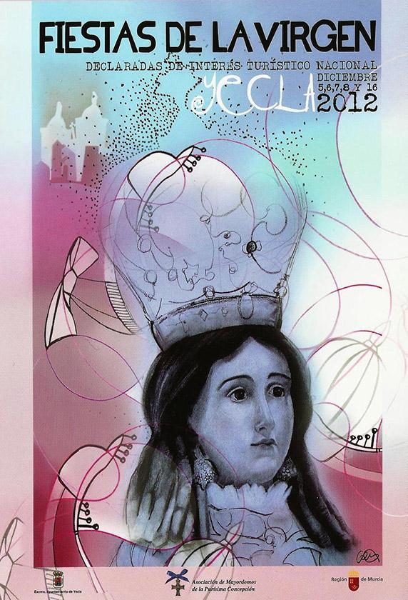 Cartel Fiestas de la Virgen año 2012