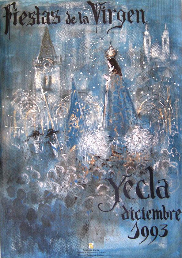 Cartel Fiestas de la Virgen año 1993