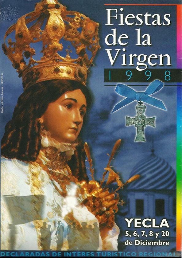 Cartel Fiestas de la Virgen año 1998