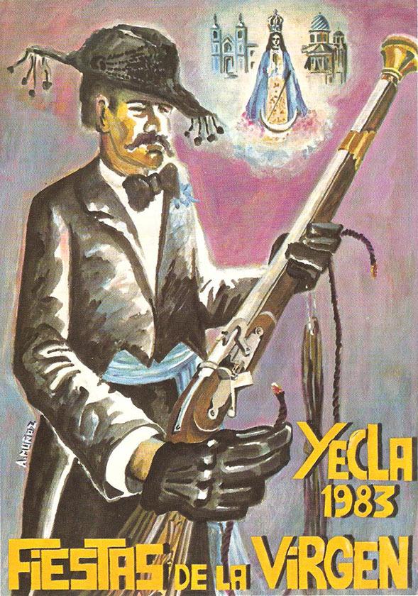 Cartel Fiestas de la Virgen año 1983