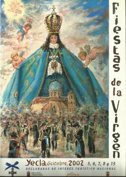 Cartel Fiestas de la Virgen año 2002