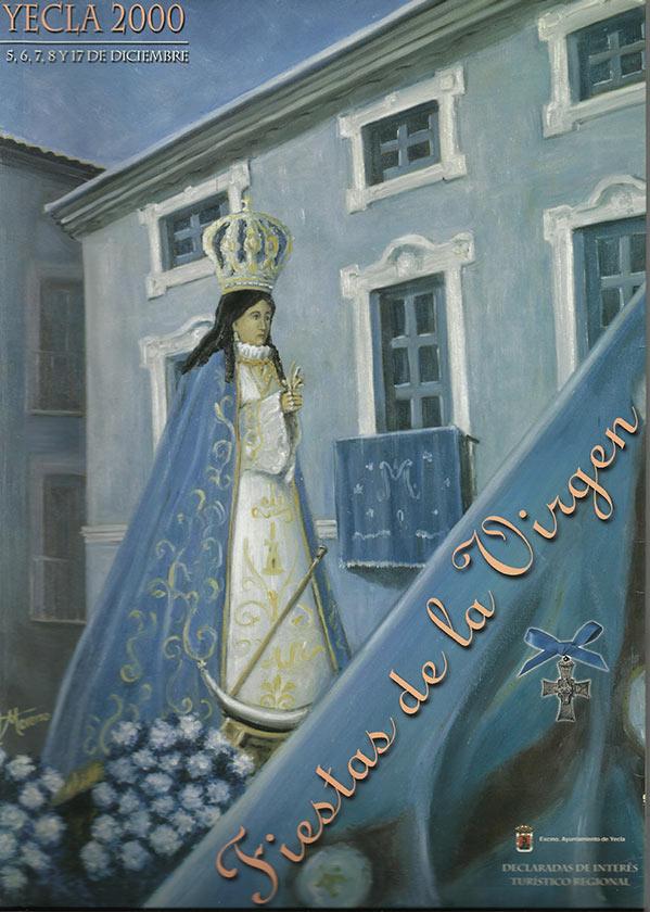 Cartel Fiestas de la Virgen año 2000
