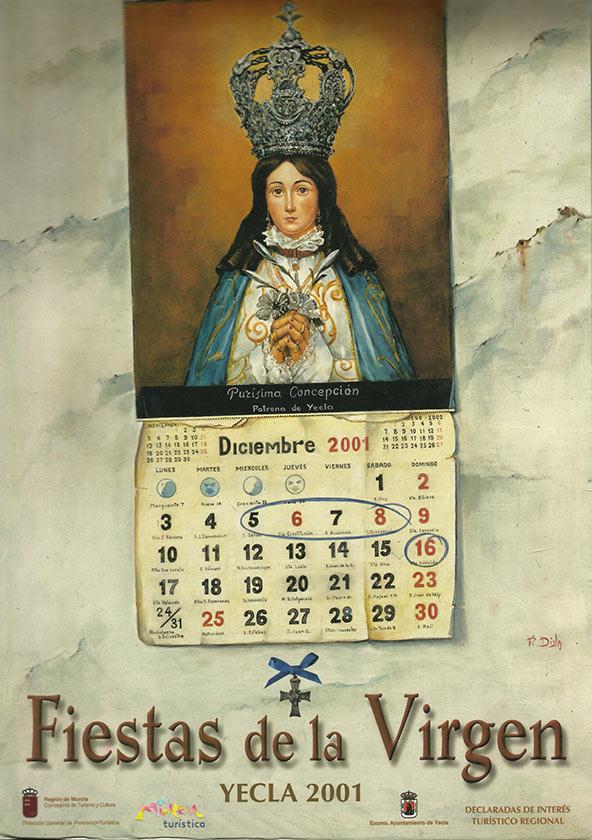 Cartel Fiestas de la Virgen año 2001