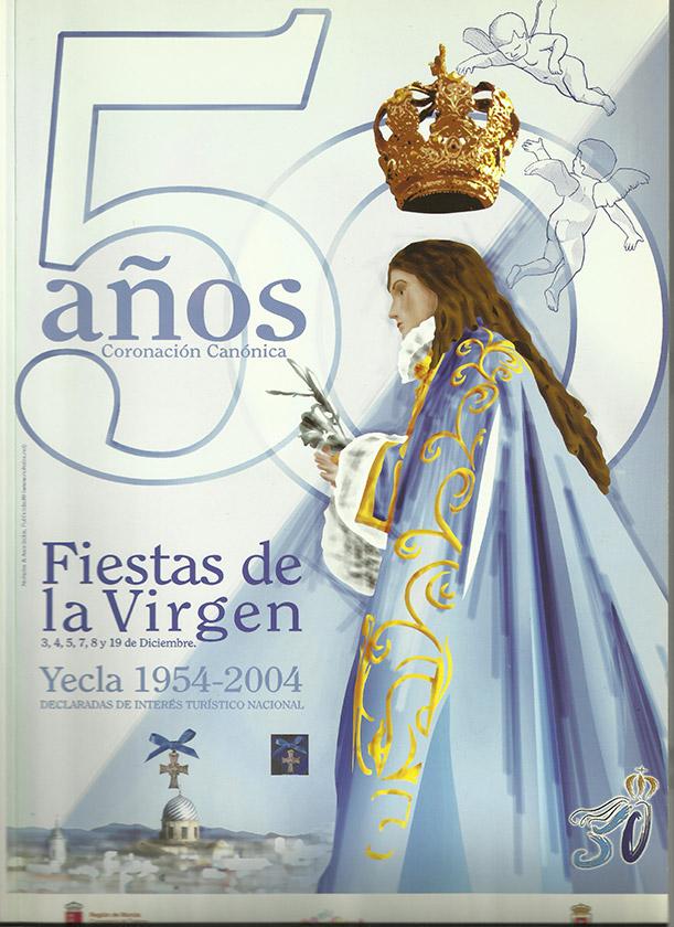 Cartel Fiestas de la Virgen año 2004