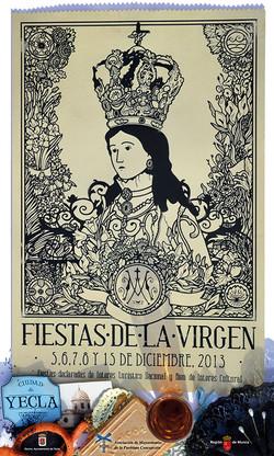 Cartel Fiestas de la Virgen año 2013