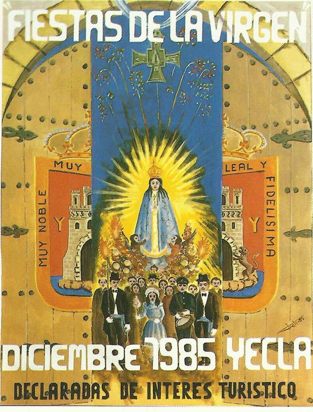Cartel Fiestas de la Virgen año 1985