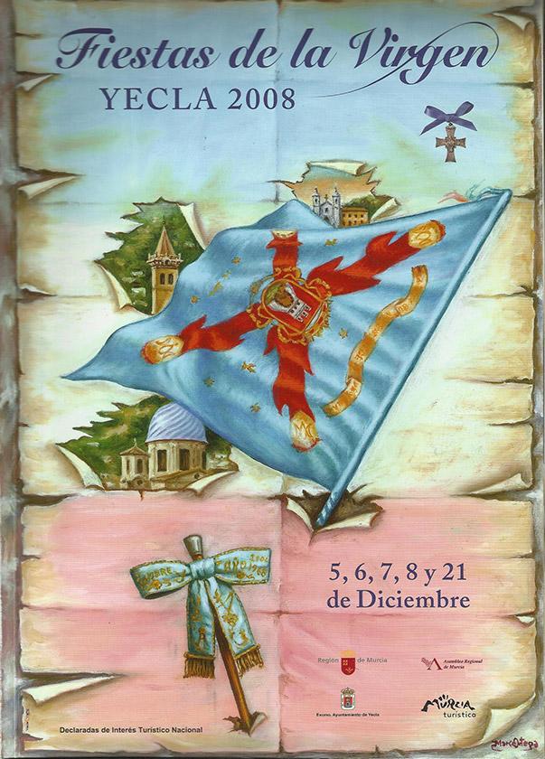 Cartel Fiestas de la Virgen año 2008