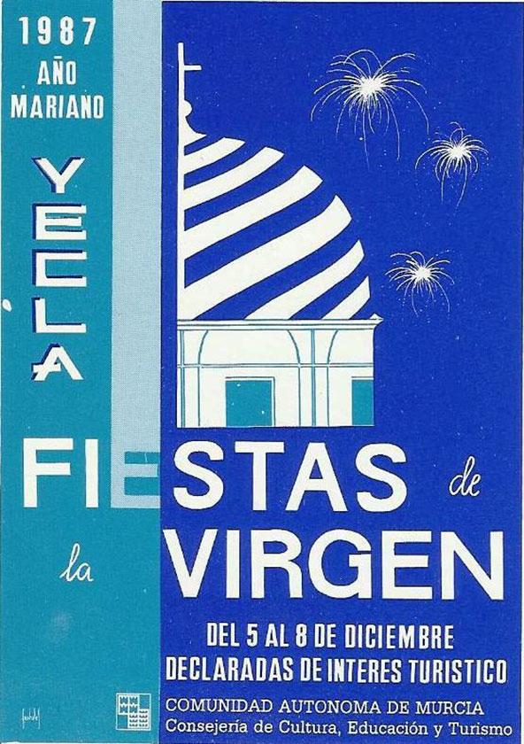 Cartel Fiestas de la Virgen año 1987