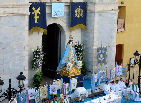 El Obispo de Cartagena presidió la Misa Extraordinaria del 375 aniversario de las Fiestas Patronales